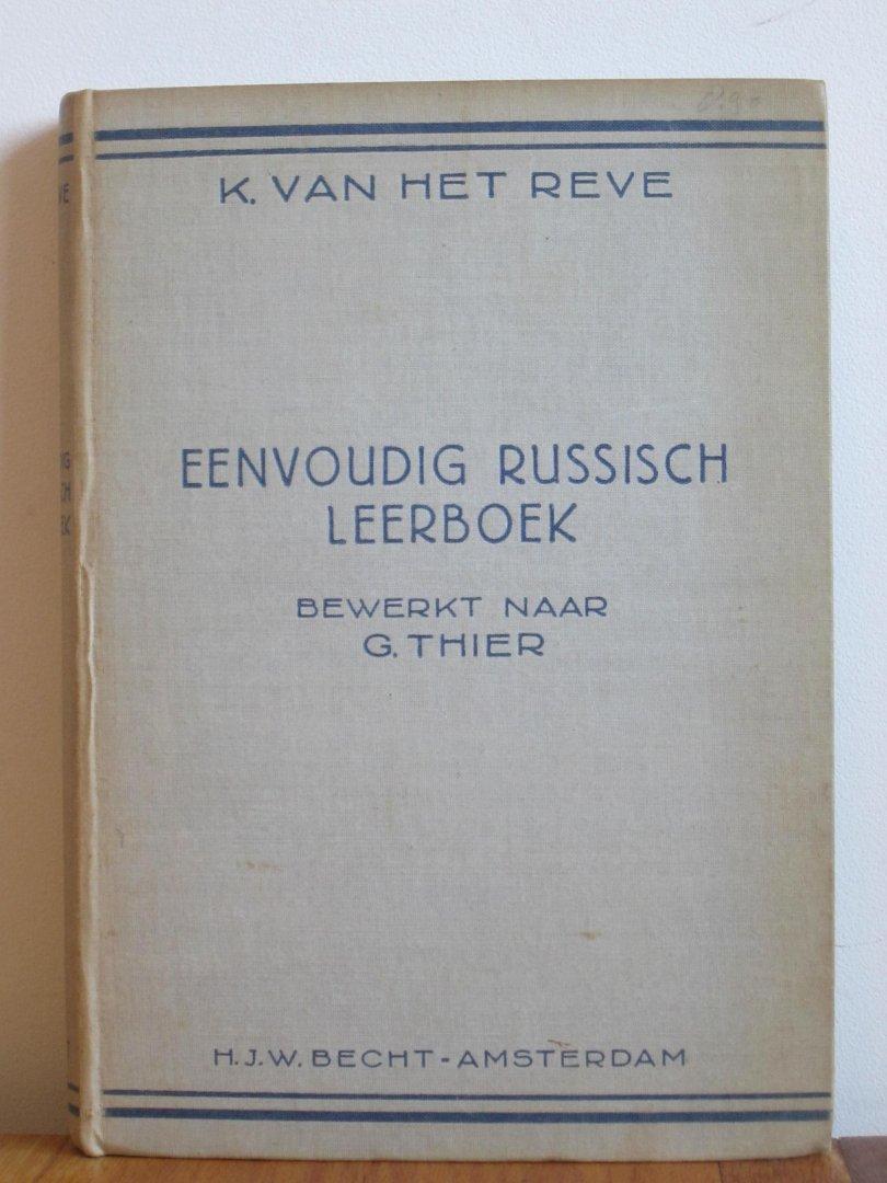 Eenvoudig Russich leerboek naar G Thier.