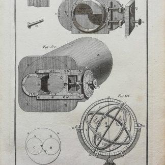 Dennis Diderot & Jean le Rond d'Alembert - Encyclopédie ou dictionnaire raisonné des sciences, des arts et des métiers - Astronomie - kopergravure