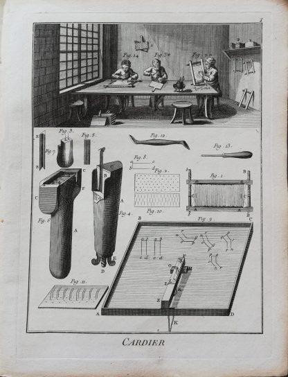 Dennis Diderot & Jean le Rond d'Alembert - Encyclopédie ou dictionnaire raisonné des sciences, des arts et des métiers - Cardier - kopergravure