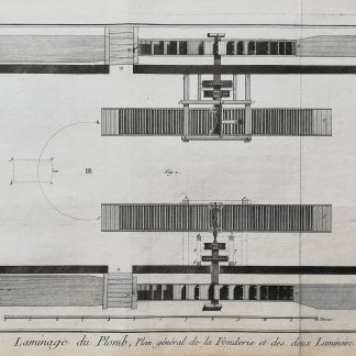 Dennis Diderot & Jean le Rond d'Alembert - Encyclopédie ou dictionnaire raisonné des sciences, des arts et des métiers - Plomb - kopervragure